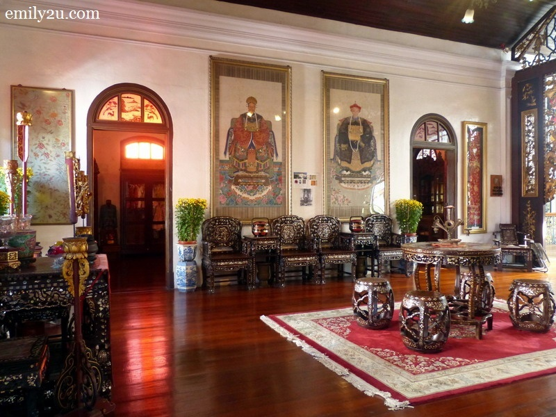 15. the room where the portraits of Kapitan Cina Chung Keng Kwee and his wife (original owners of the mansion) are hung on the wall