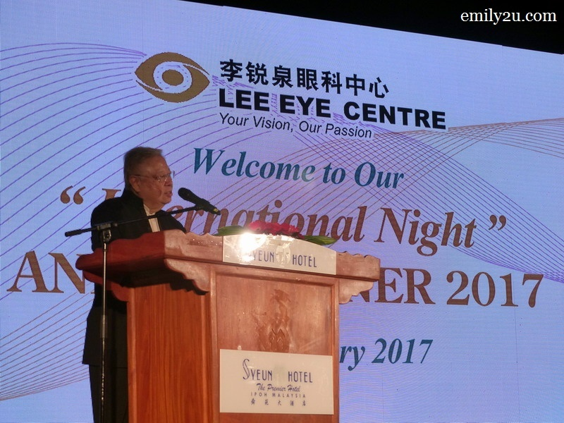 2. opening address by LEC Chairman Dato' Dr. YC Lee