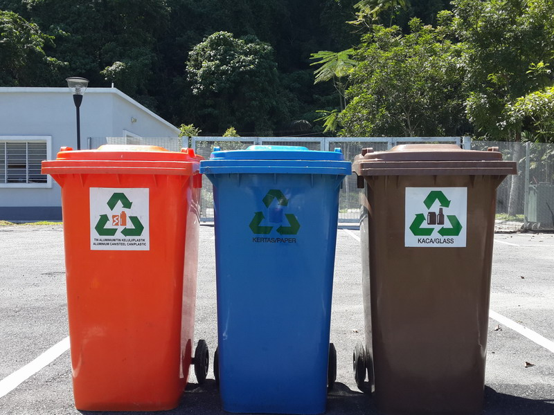5. bins for recycling