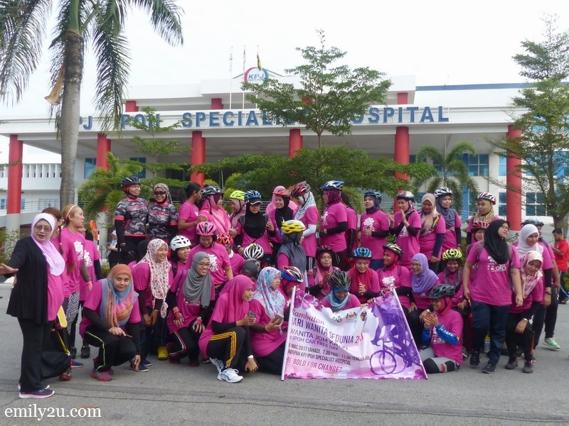 10. the pink cyclists are back to base