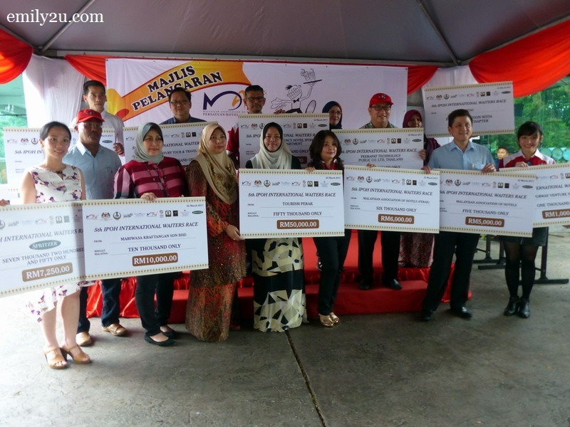 20. all the sponsors of the 5th Ipoh International Waiters Race