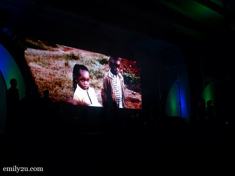 2. watching a video clip on the life of Watoto children