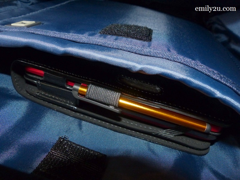 2. my ASUS Transformer fits snugly in the backpack