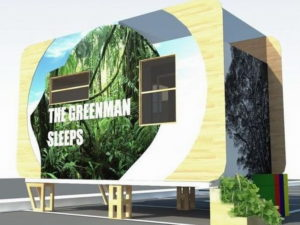 8 The prototype of Green Man's Tiny Home