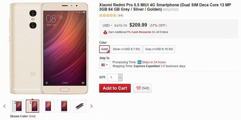 Xiaomi Redmi Pro 5.5 MIUI 4G Smartphone