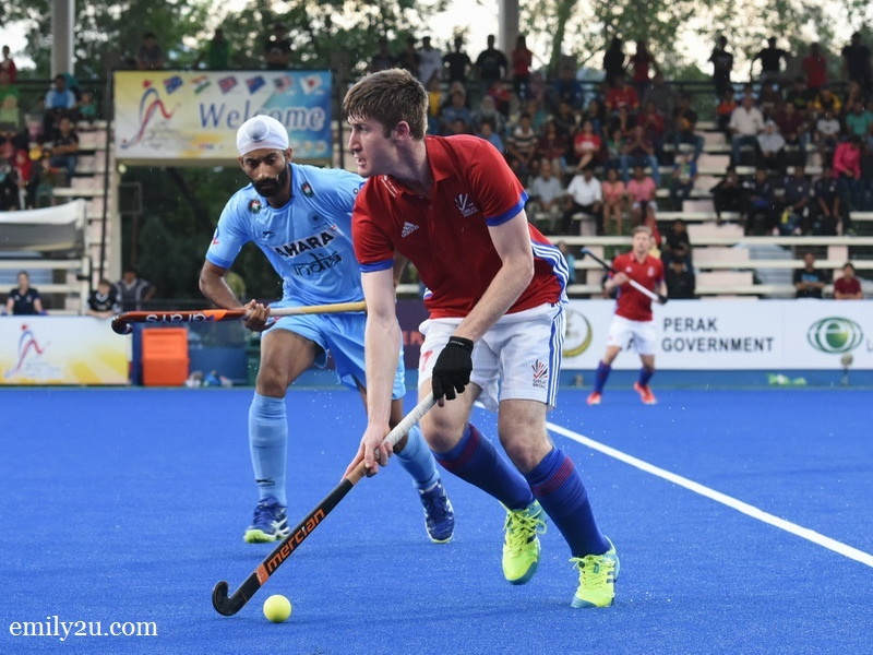 1. Great Britain (red/white) vs. India (blue)