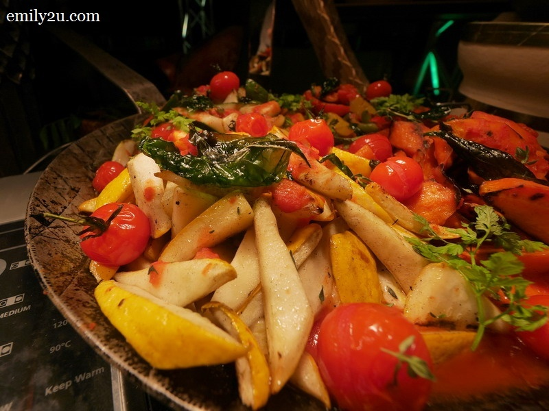 2. chargrilled mixed vegetables