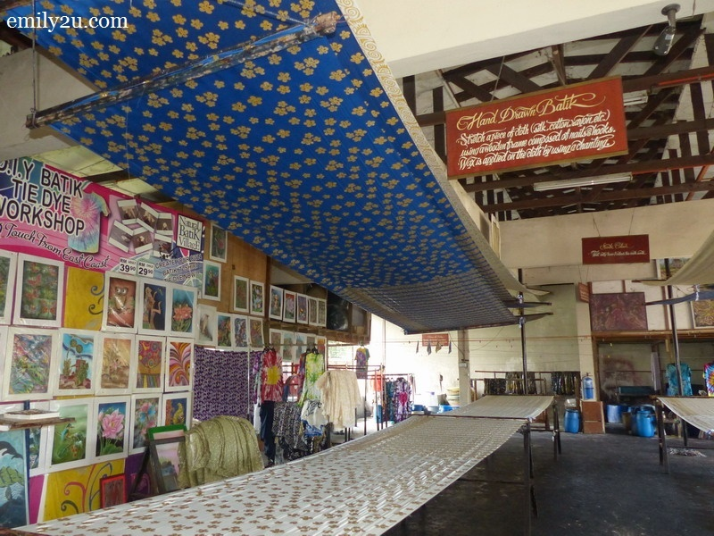 4. batik factory at the back portion of the shop