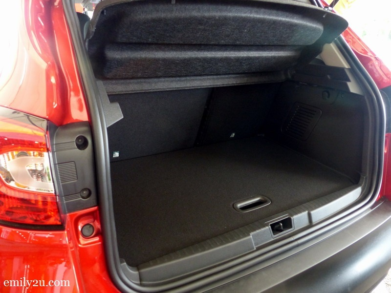 8. boot is surprisingly spacious - this is the top level