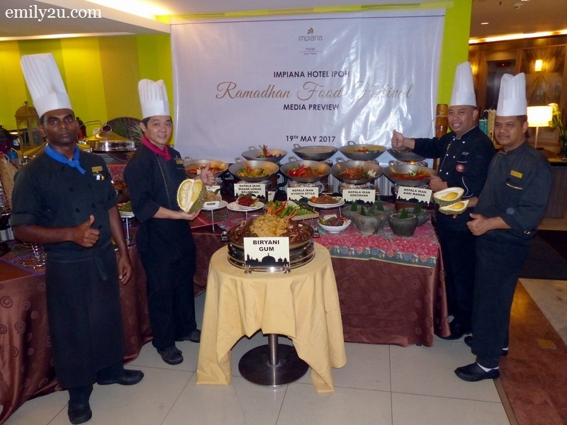 1. L-R: Pastry Chef John Albert, Chinese Chef Wong Sim Pin, Malay Chef Azman Azelah & Executive Chef Sariman Jamil