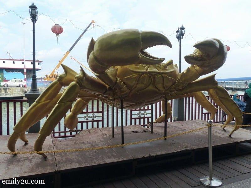 1. Pulau Ketam's crab icon at Port Klang jetty