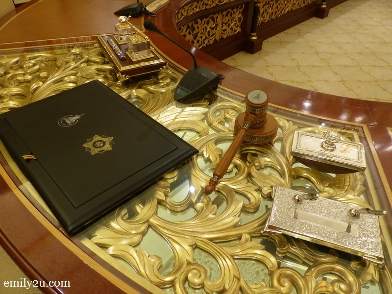 10. Tuanku's table in the Royal Council Room