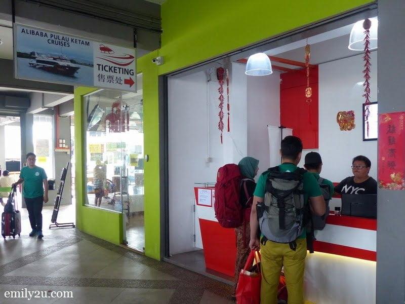 2. ticket counter of Alibaba Pulau Ketam Cruises Services