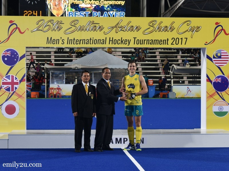 2. Player of the Tournament: Tom Craig (Australia)