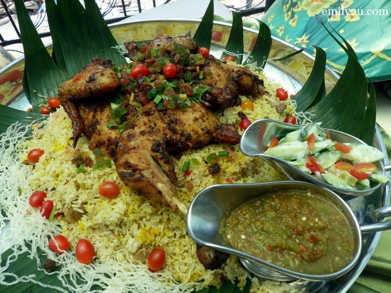 2. nasi mandy topped with chicken yoghurt