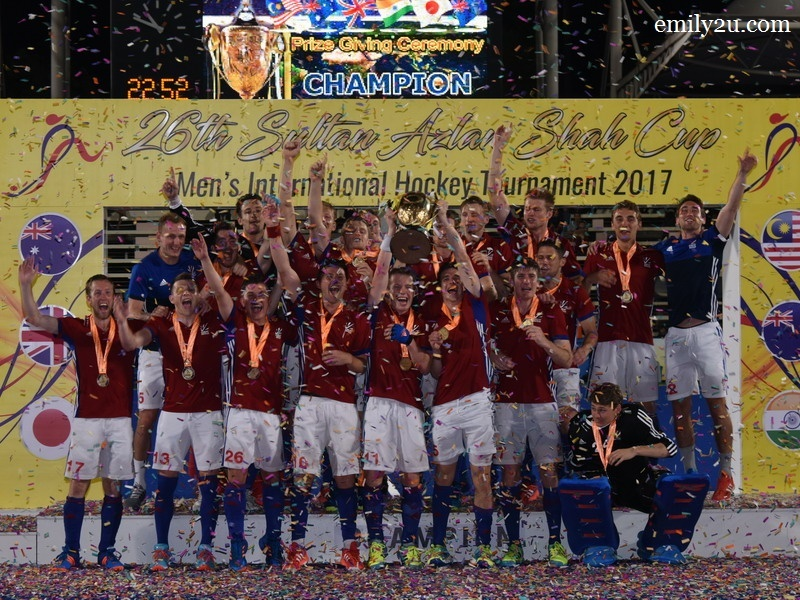 3. 26th Sultan Azlan Shah Cup 2017 Champions: Great Britain