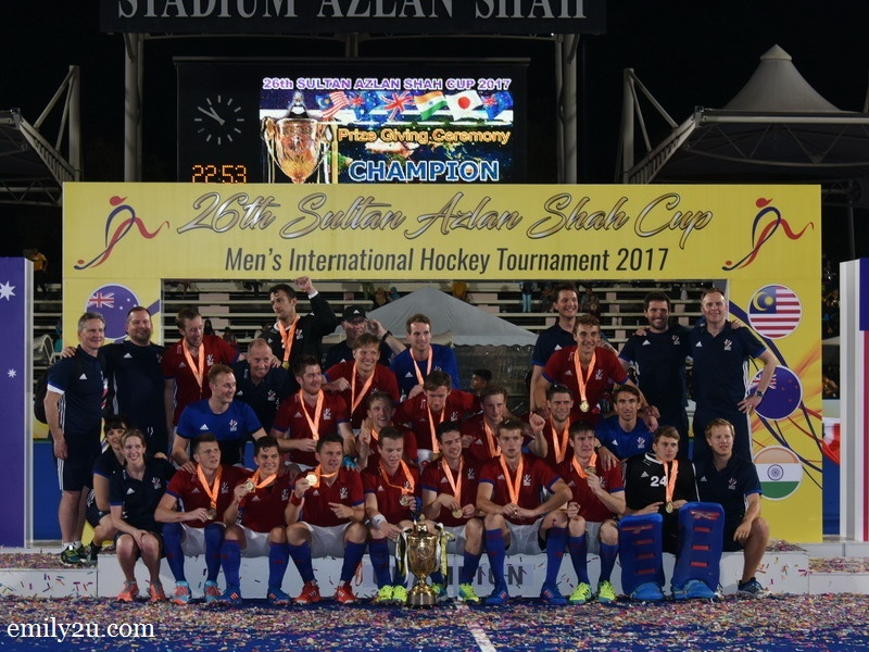 4. 26th Sultan Azlan Shah Cup 2017 Champions: Great Britain
