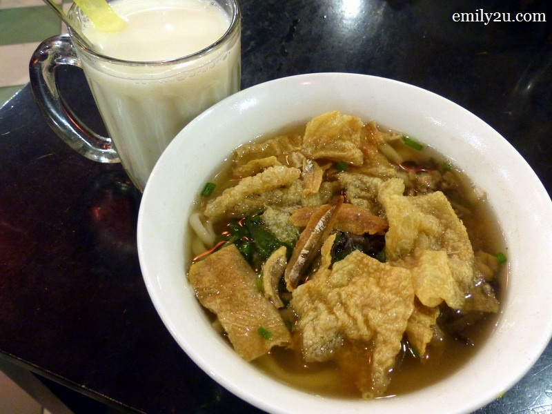 4. traditional pan mee (soup) at RM10.50 nett & soya barley at RM3 nett