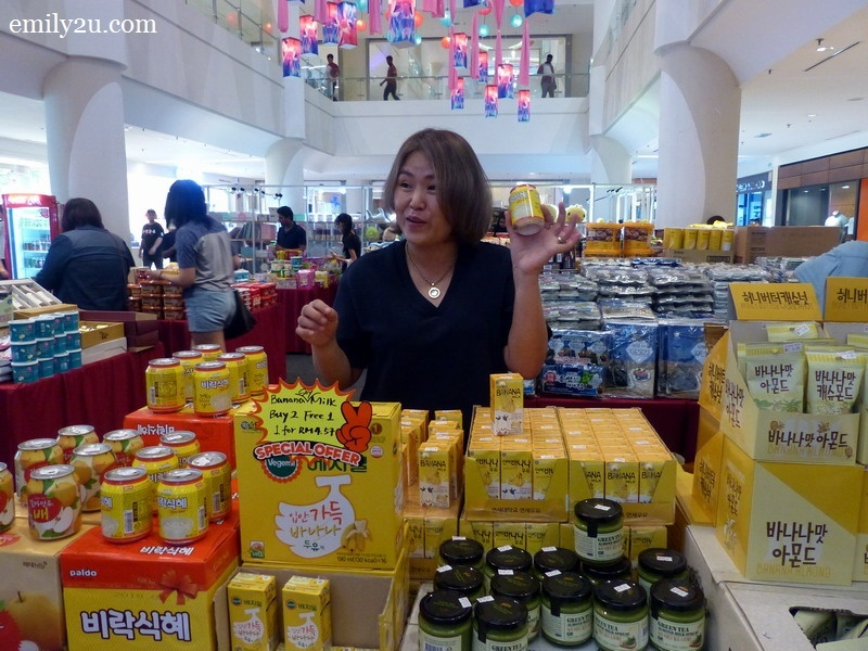 5. Ms. June Yoo of Shin Sun Mi Korean Market introduces some Korean products that she imports