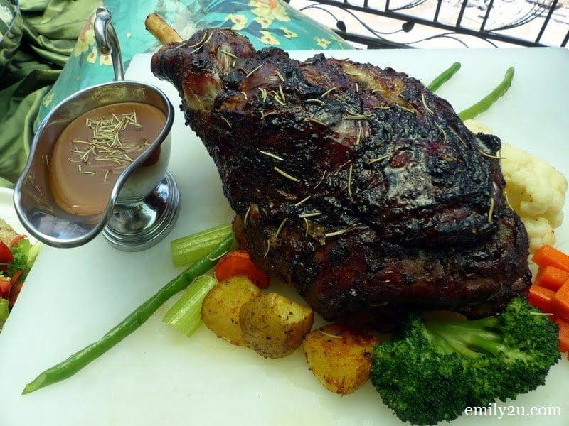 7. roasted lamb leg