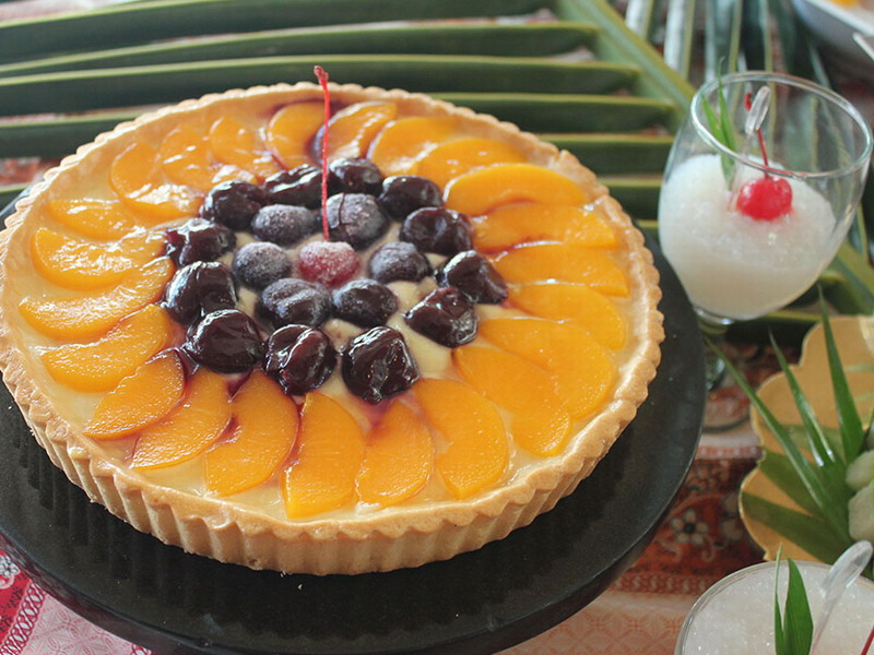 9. mango blueberry cheese cake