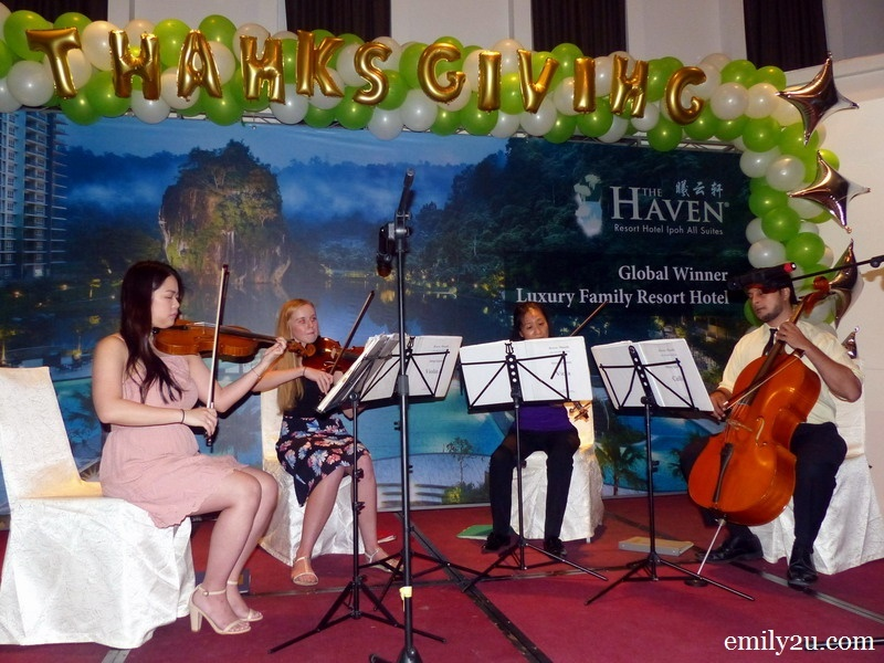1. The Haven Strings Quartet (L-R): Lu Ee Wong, Rachel Perry, Toko Inomoto & Aamil Sulaiman