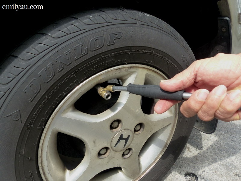 11. make sure pressure of all tyres are at 30 psi