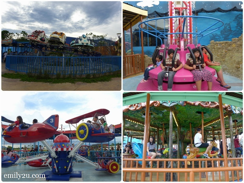 15. some of the rides in Fantasy Forest