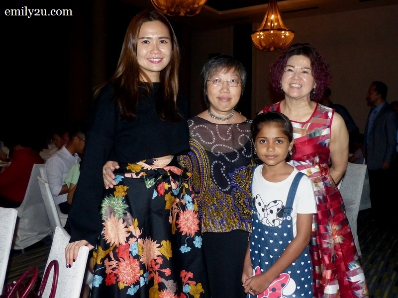 16. L-R: Ms. Annie Wong, Ms. Amy Lau, Annie's mother Datin Chan Soh Yee and a young guest