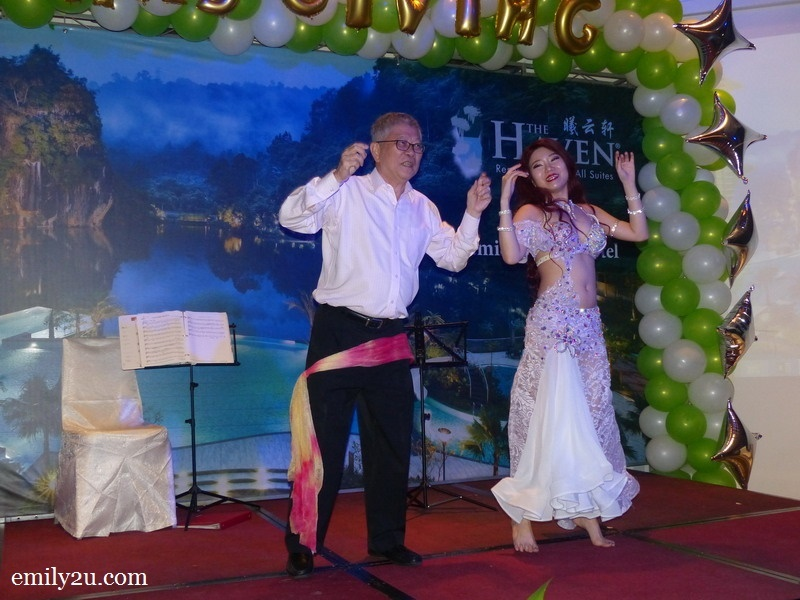 4. Mr. Peter Chan sportingly dances