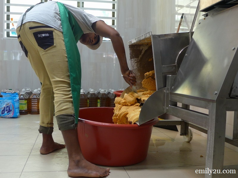 5. a worker prepares the dough