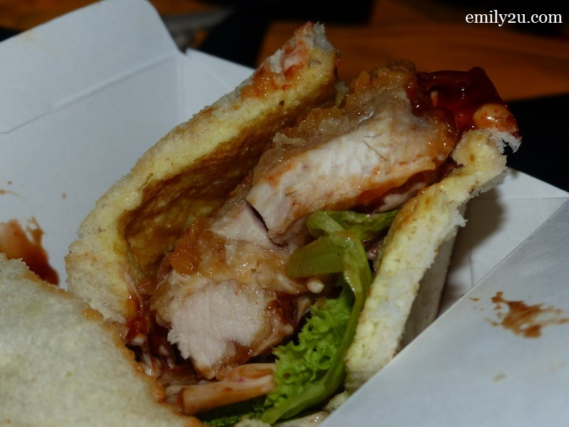 9. juicy chicken sandwich from The Hut