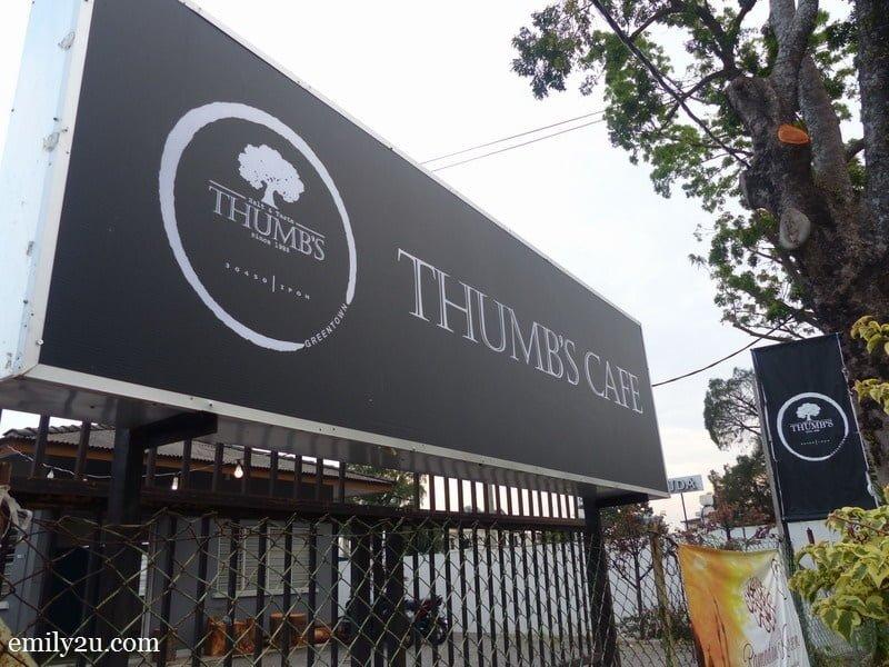 9. Thumb's Café signage