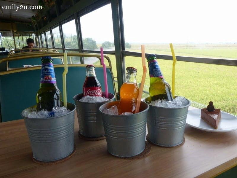 4. beverages in glass bottles for the vintage feel