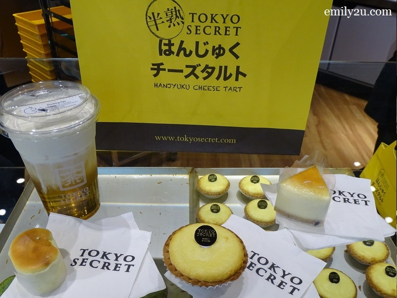 2. L-R: Oolong Cheese Creama, Hanjuku Cheese Cake, Hanjuku Cheese Tart & Cheese Cake