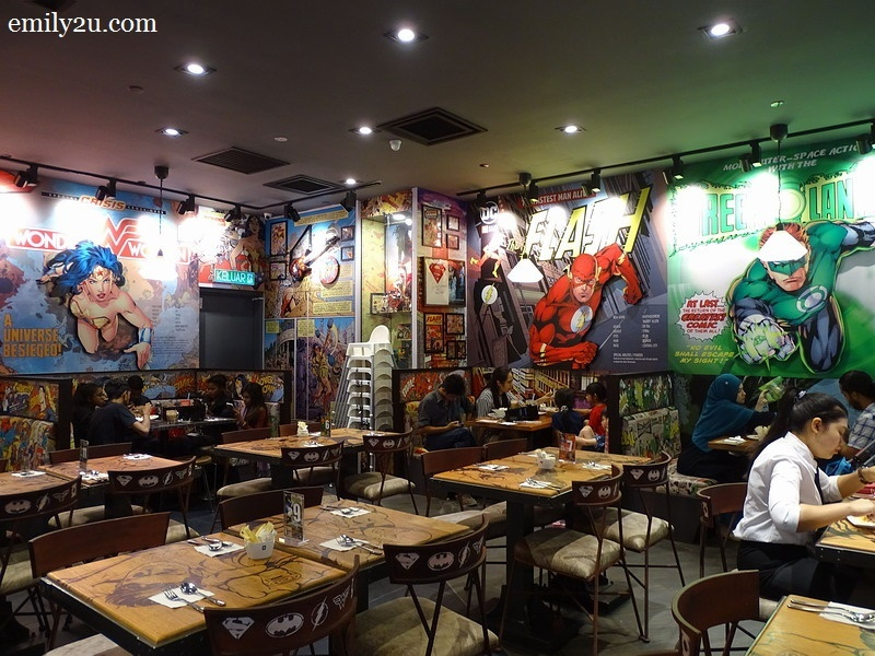 4. super hero-themed café