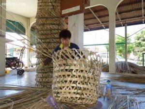5 weave bamboo baskets