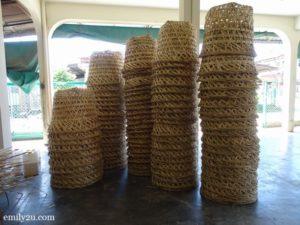 6 weave bamboo baskets