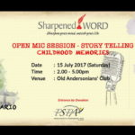Announcement: Sharpened Word - Open Mic Session - Story Telling Childhood Memories (July 2017)