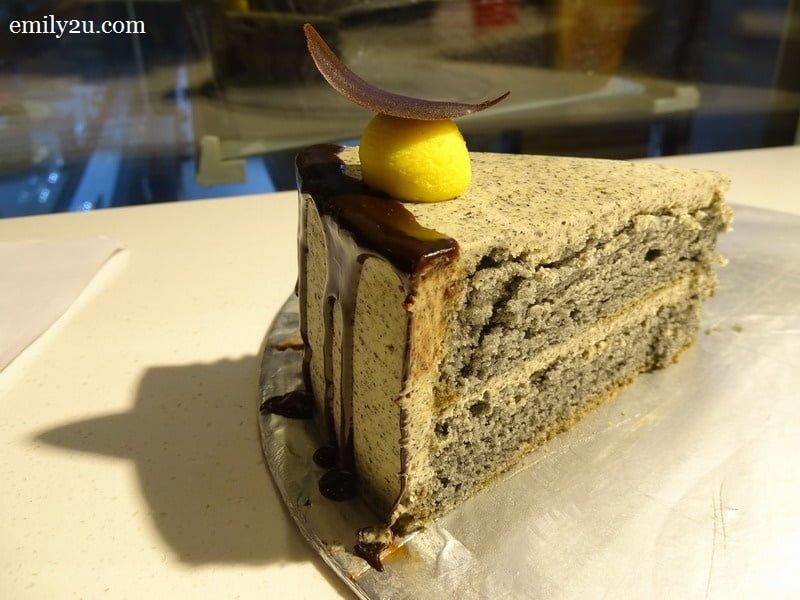a slice of Black Velvet cake