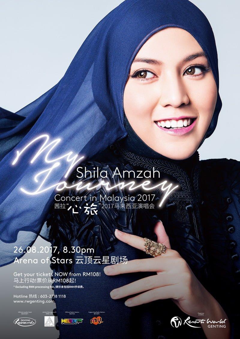 poster: Shila Amzah Concert in Malaysia 2017