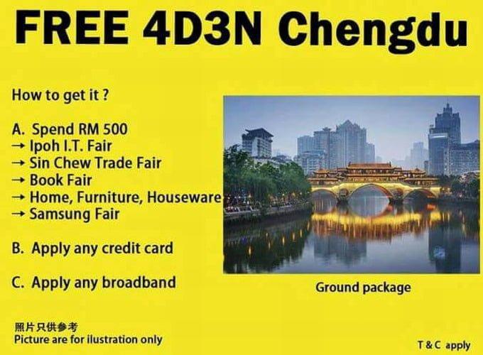 free 4D3N Chengdu tour