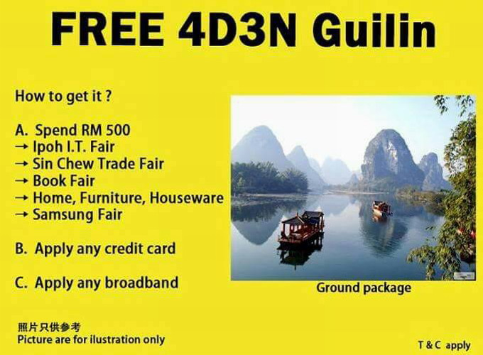 free 4D3N Guilin tour