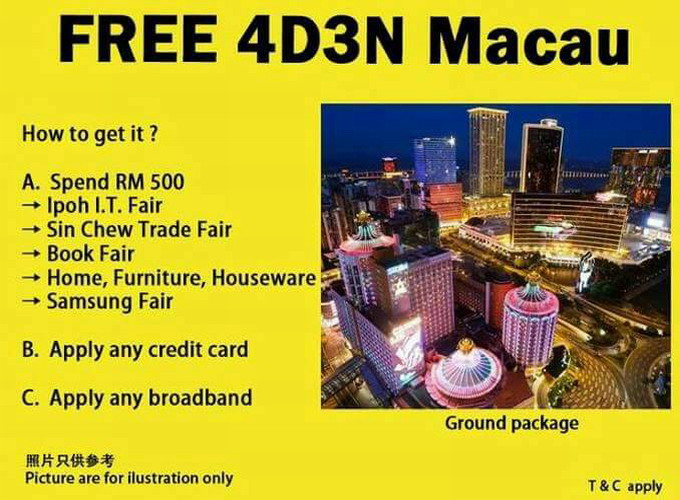 free 4D3N Macao tour
