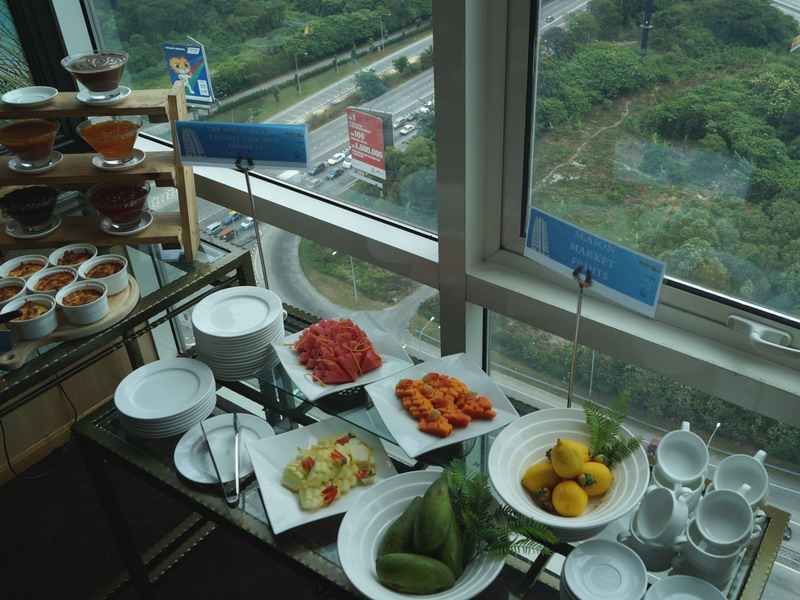 25. seasonal fruits and an amazing view from the 20th floor