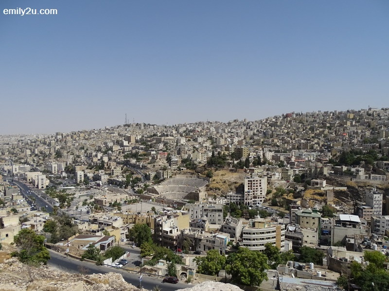 5. a view of Amman's Roman Theatre, a famous landmark in the Jordanian capital