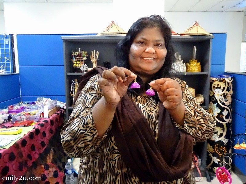 9. Mumtaj with her handmade earrings