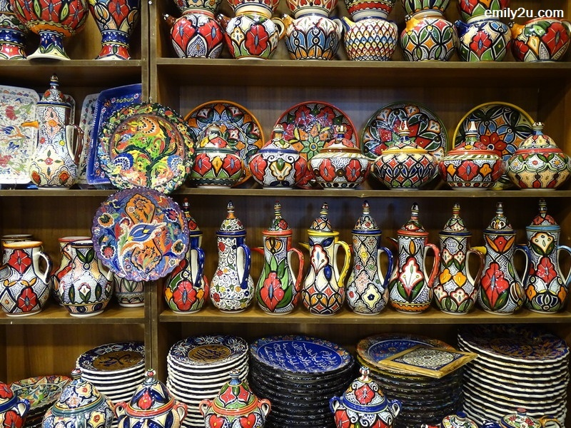 colourful ceramic ware