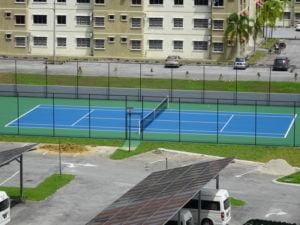 1 tennis court
