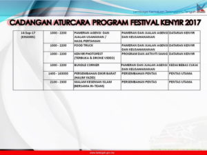 10 Festival Kenyir Programme
